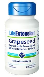 Traubenkernextrakt mit Resveratrol und Pterostilben, 100 mg, 60 vegetarische Kapseln